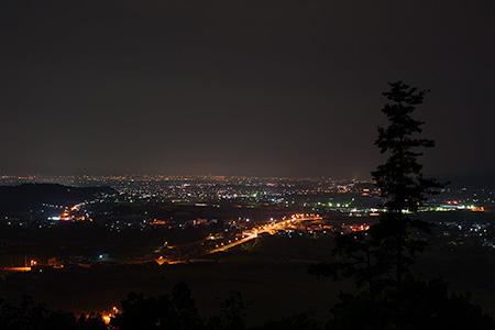肥前盾公園の夜景