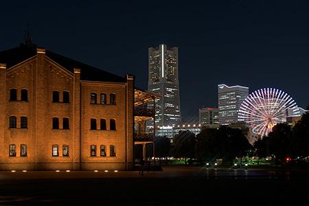横浜赤レンガ倉庫の夜景
