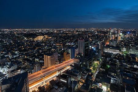キャロットタワーの夜景