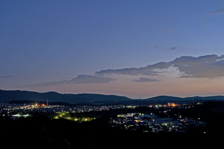 セラミックパークMINO展望台の夜景