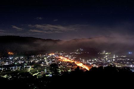 茶臼館展望台の夜景