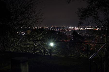 茶臼山公園の夜景