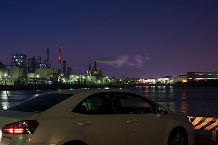 千鳥運河前の夜景