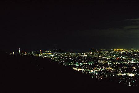 油山 椿守の森の夜景