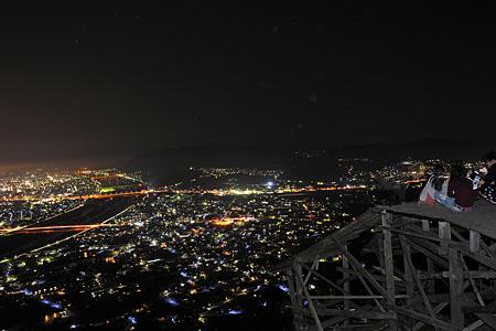 地王山フライトエリアの夜景