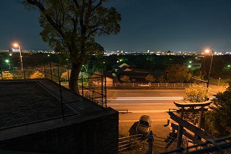 地緑神社の夜景