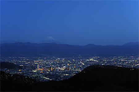 千代田湖白山の夜景
