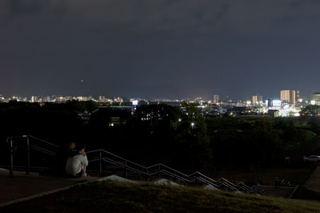 中央公園の夜景