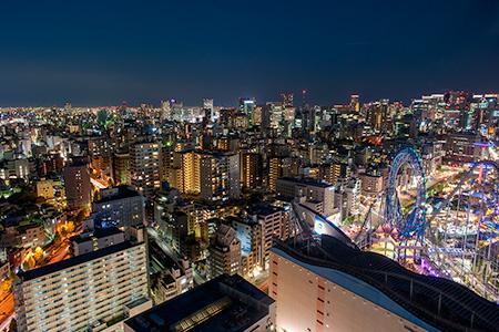 文京シビックセンター 展望ラウンジの夜景
