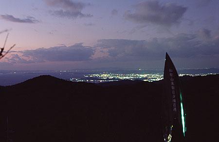 鷲ヶ峰コスモスパークの夜景