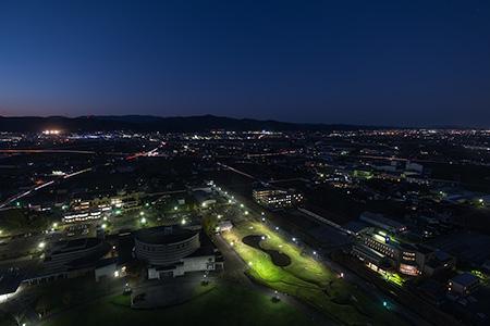 クロスランドタワーの夜景