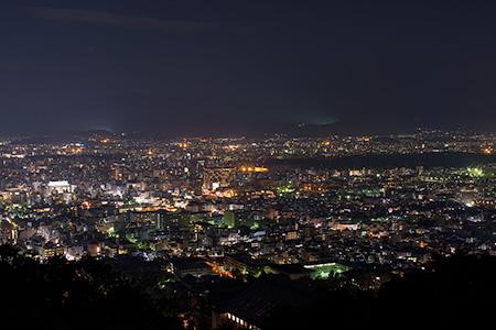 将軍塚青龍殿 大舞台(大日堂)の夜景