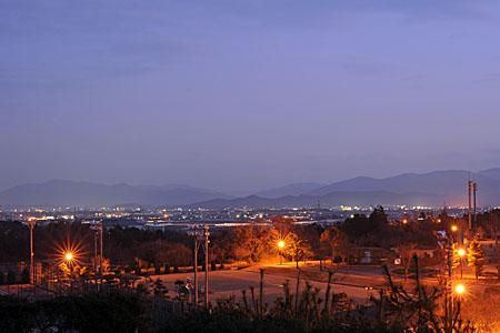 大仏山公園の夜景