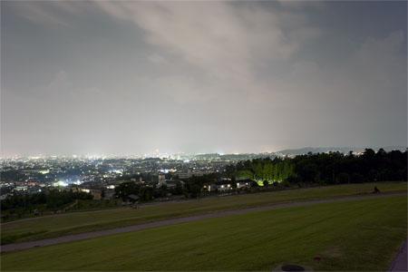 大乗寺丘陵公園の夜景