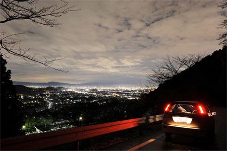嵯峨野見晴台 嵐山高雄パークウエイの夜景