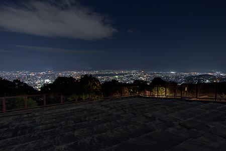 将軍塚青龍殿 西展望台(大日堂)の夜景