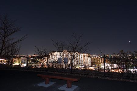 小山内裏公園 西展望広場の夜景