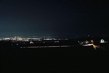 大山ペンション 展望駐車場の夜景