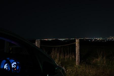 だんぱら高原スキー場の夜景