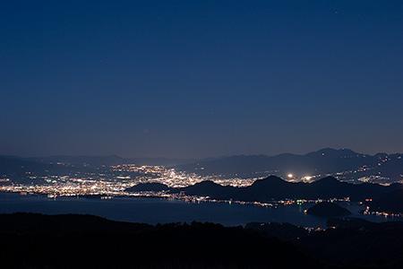 だるま山高原レストハウスの夜景