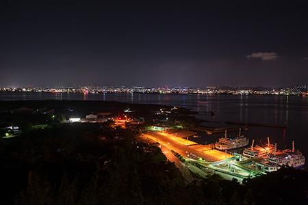 桜島自然恐竜公園の夜景