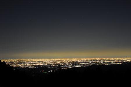 堂平山の夜景
