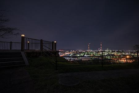 道伯山(黒崎城址)の夜景