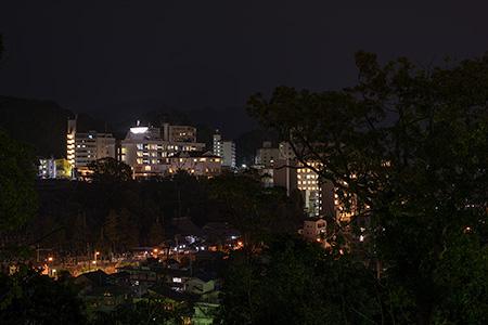 道後公園の夜景
