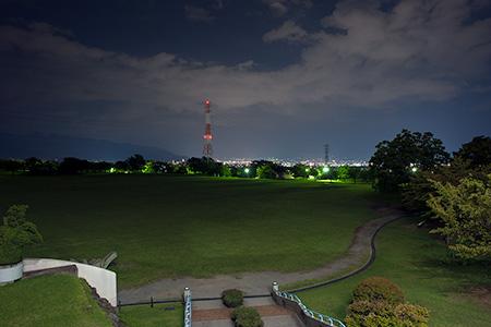 赤坂台総合公園(ドラゴンパーク)の夜景