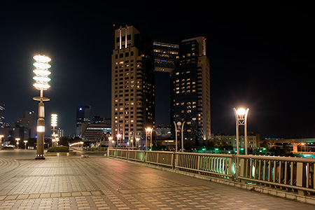 夢の大橋の夜景