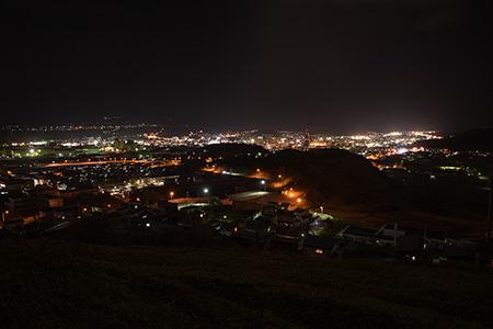地球岬散策路の夜景