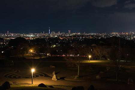 西油山中央公園の夜景