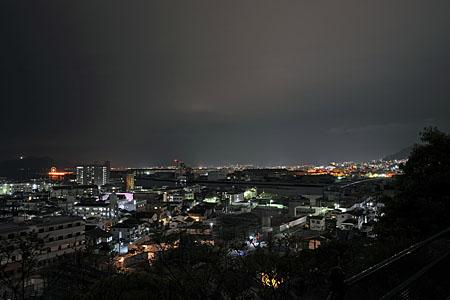 江波皿山公園の夜景