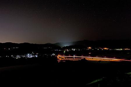 越後川口SAの夜景