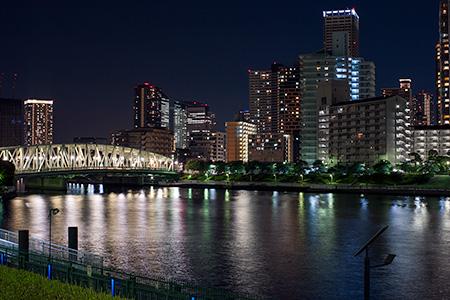 越中島公園の夜景