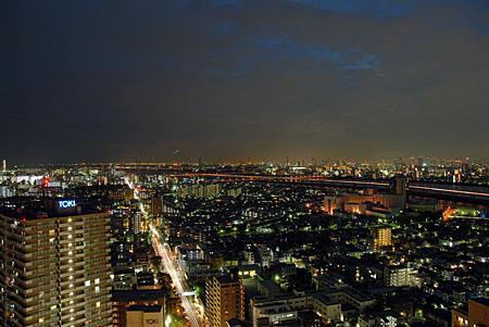 タワーホール船堀 タワー展望室の夜景