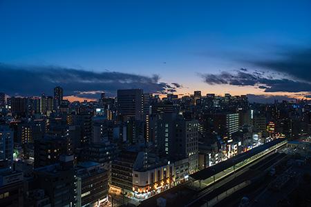 江戸東京博物館の夜景