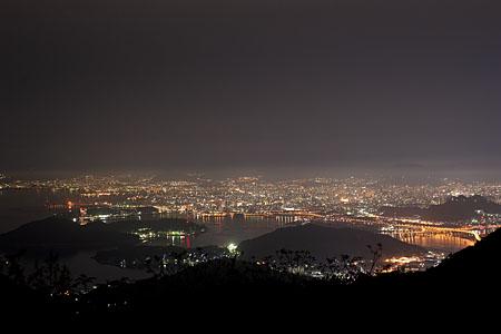 絵下山 山頂駐車場の夜景