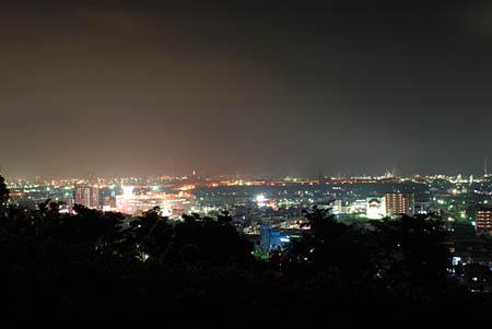 永源山公園の夜景