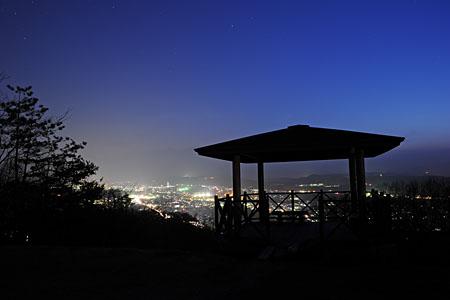 絵になるまち写真になるまち展望広場の夜景