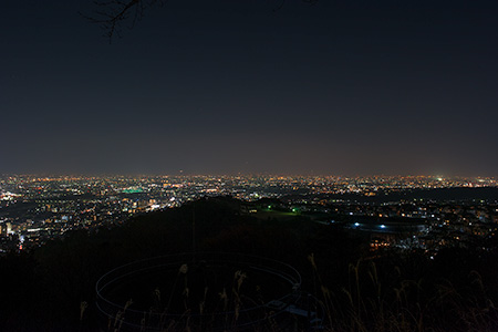 えんぺい寺休憩所近くの夜景