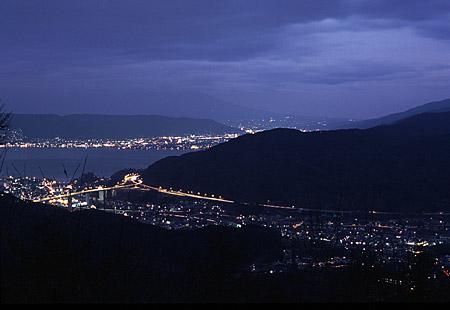 塩嶺王城パークラインの夜景