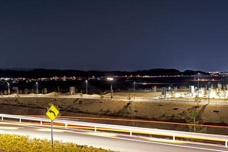 遠州森町PA(上り)の夜景