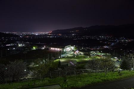 塩山ふれあいの森総合公園の夜景