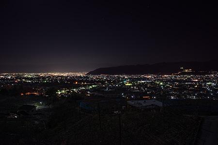 塩山フルーツライン 菱山の夜景