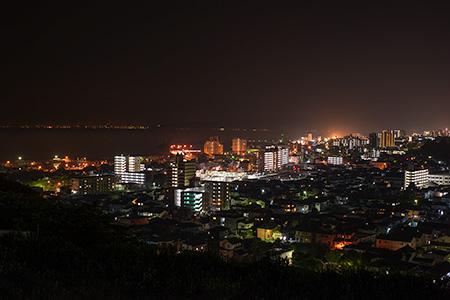 セイコーエプソン前の夜景