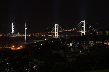 絵鞆展望台の夜景