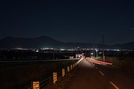 基幹農道の夜景