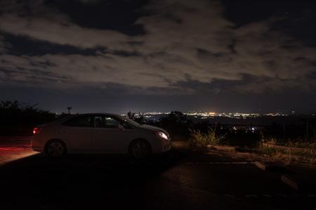 湯の岳パノラマライン 花と星の丘公園の夜景
