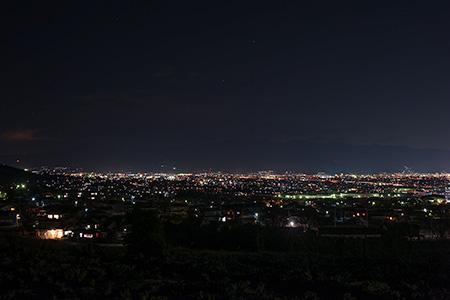 森林総合研究所の夜景